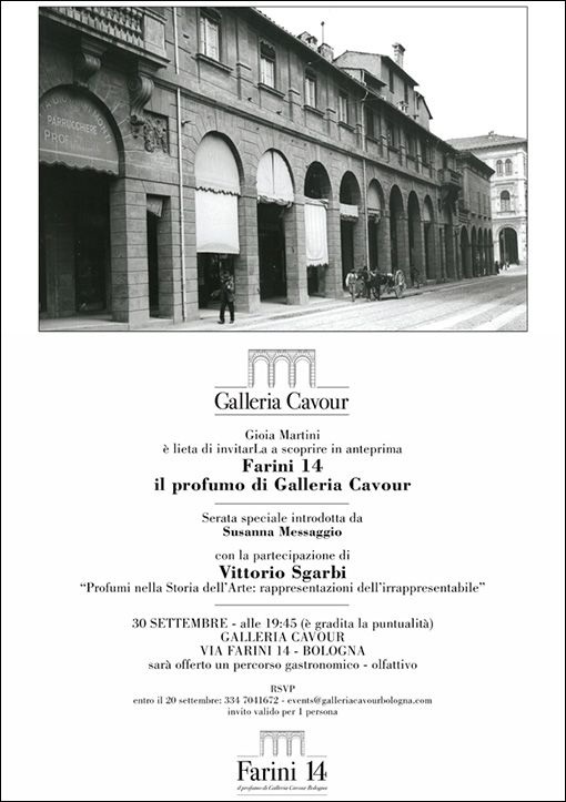 FARINI 14 THE PERFUME OF CAVOUR GALLERY - 30 September 2020